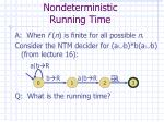 nondeterministic running time1