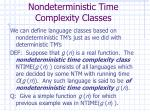 nondeterministic time complexity classes