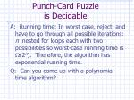 punch card puzzle is decidable1