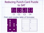 reducing punch card puzzle to sat1