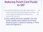 reducing punch card puzzle to sat10