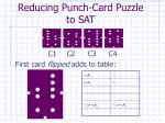 reducing punch card puzzle to sat2