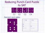 reducing punch card puzzle to sat3