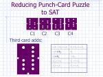 reducing punch card puzzle to sat5