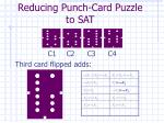reducing punch card puzzle to sat6