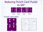 reducing punch card puzzle to sat7