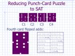 reducing punch card puzzle to sat8