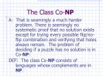 the class co np