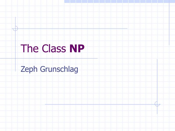 the class np n.