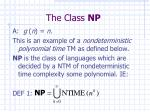 the class np1