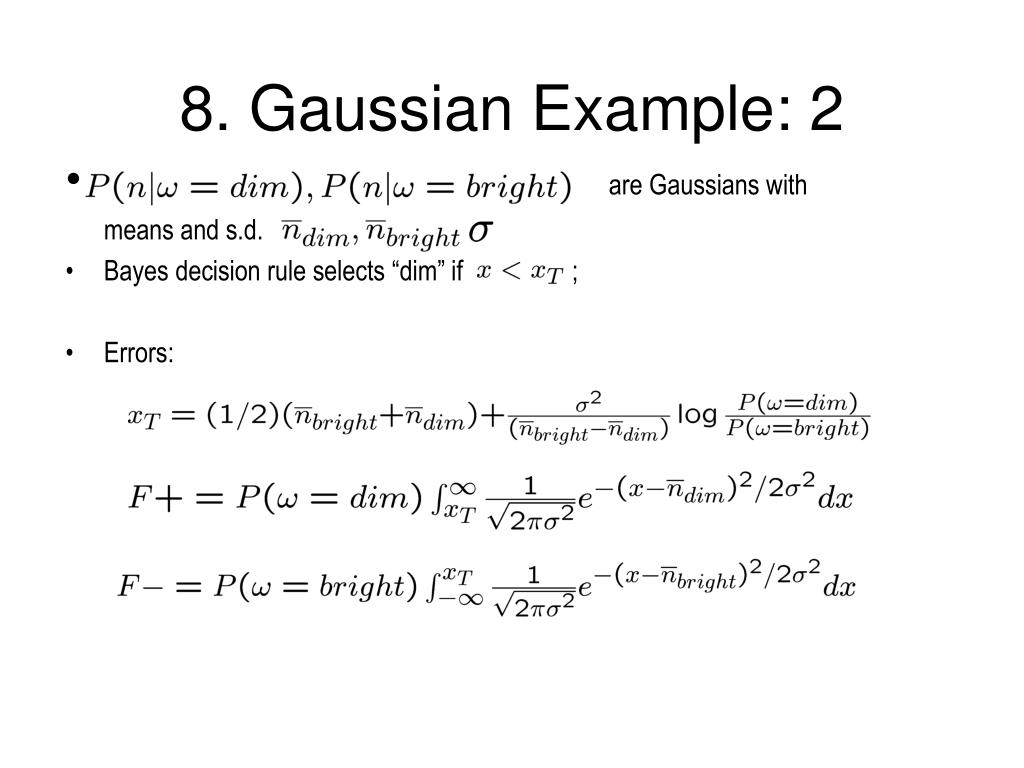 8. Gaussian Example: 2
