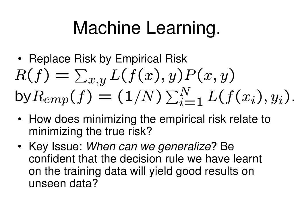 Machine Learning.