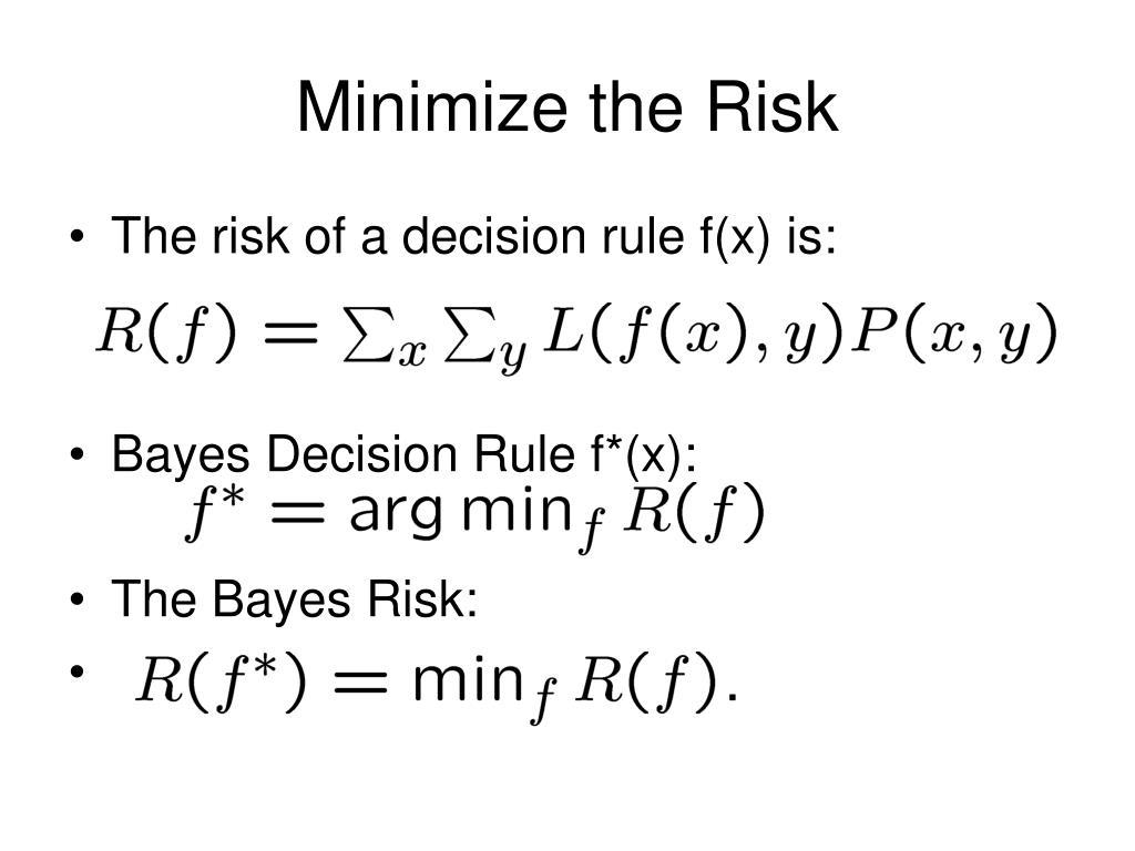 Minimize the Risk