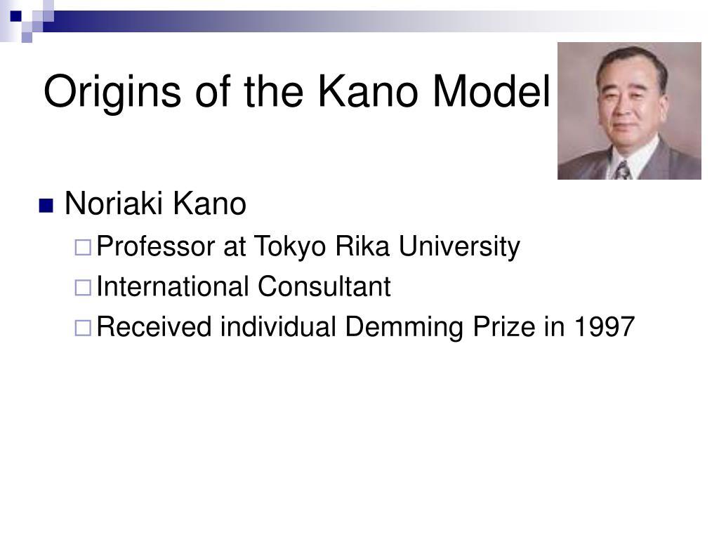 Origins of the Kano Model