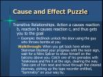 cause and effect puzzle