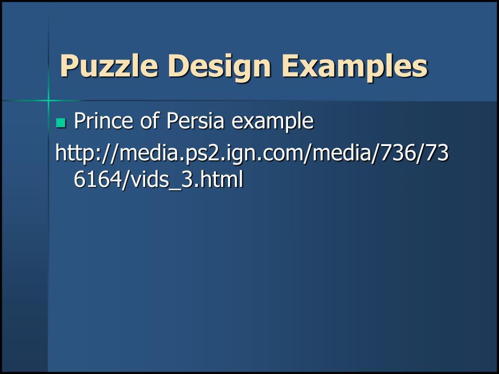 Puzzle Design Examples
