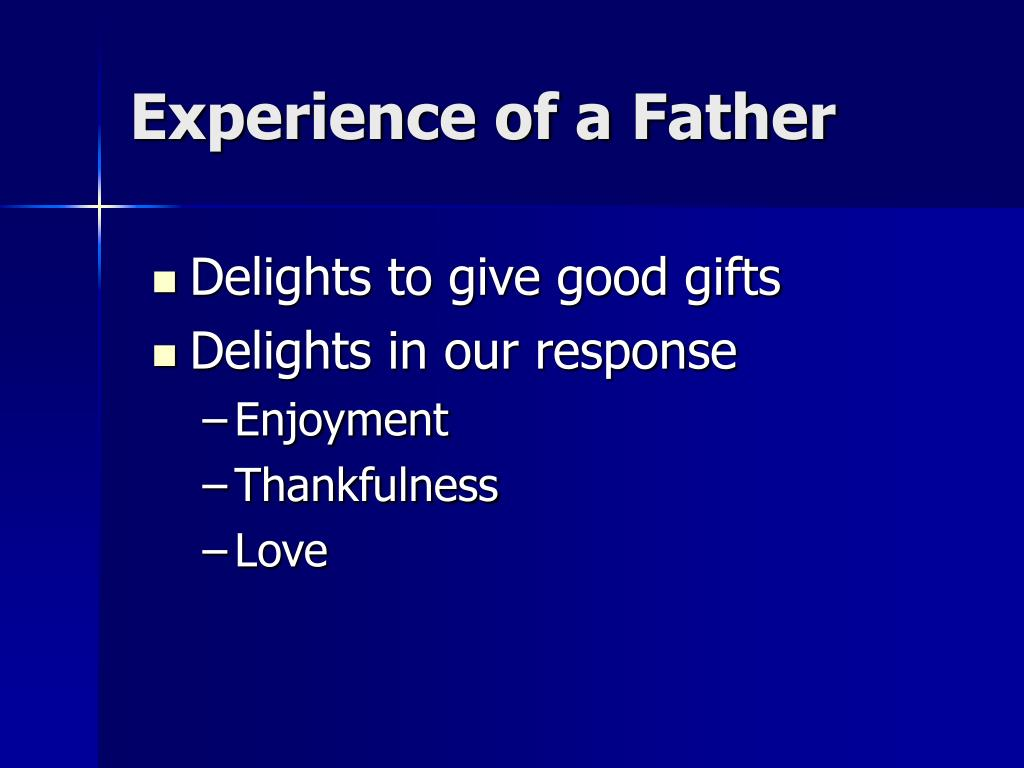 Experience of a Father