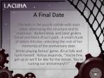 a final date20