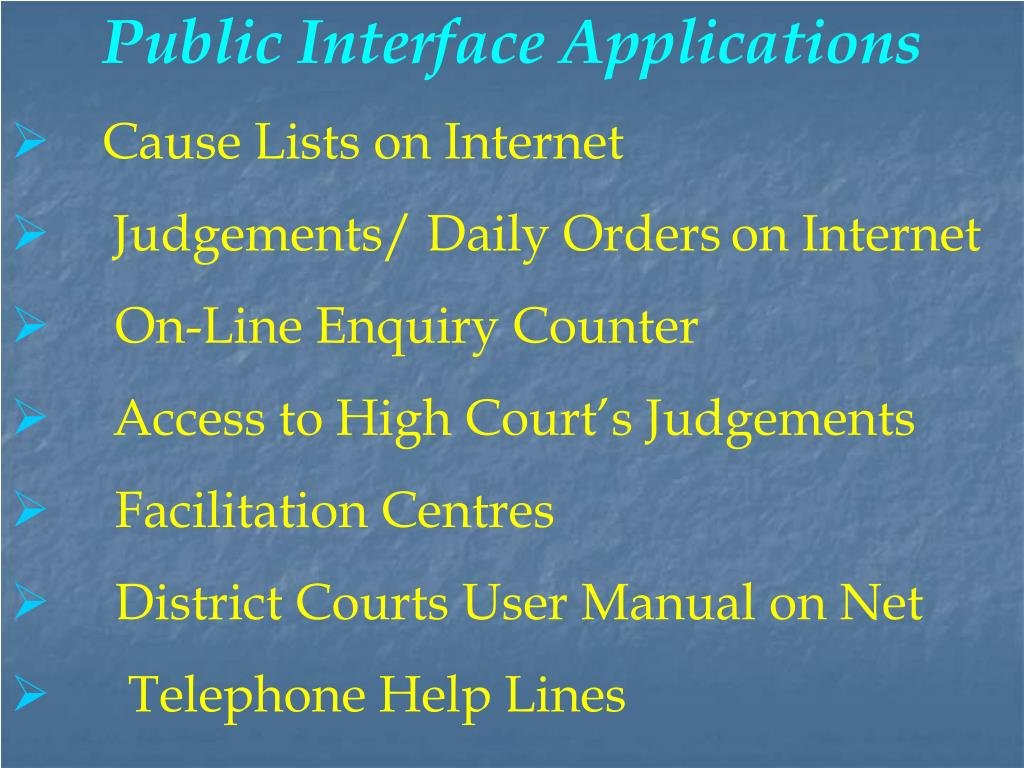 Public Interface Applications
