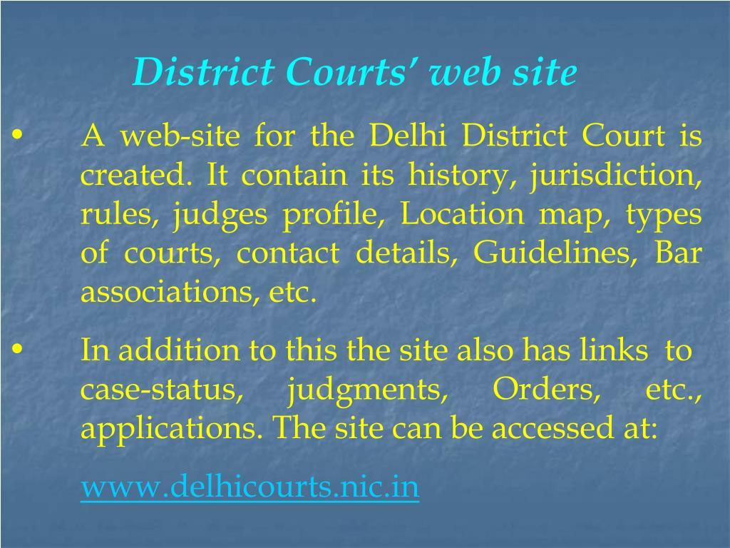 District Courts' web site