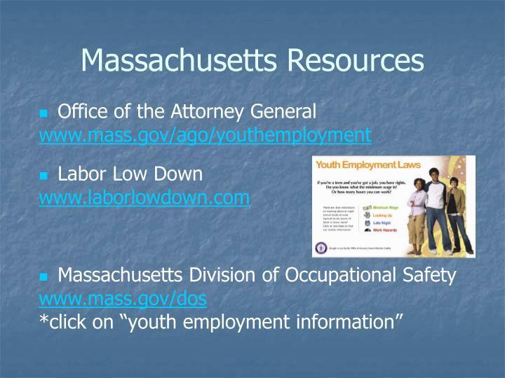 Massachusetts Resources