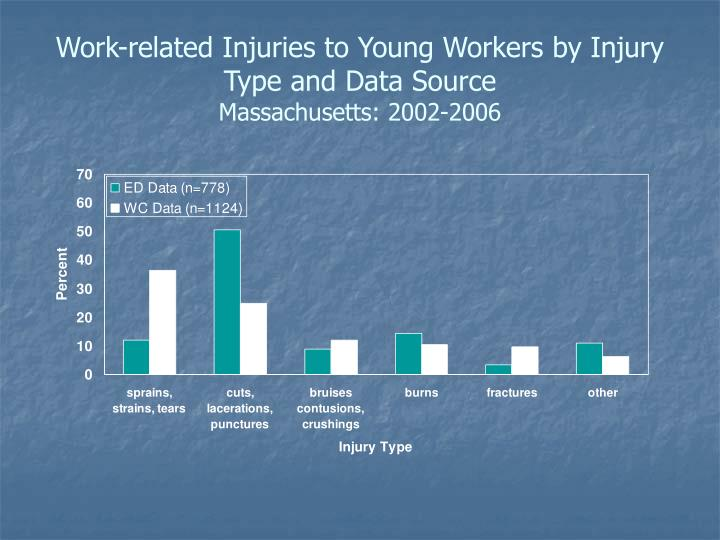 Work-related Injuries to Young Workers by Injury Type and Data Source