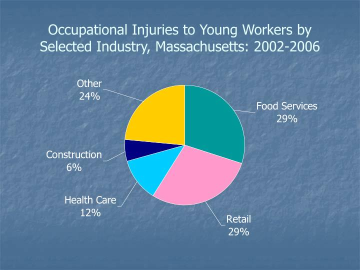 Occupational Injuries to Young Workers by Selected Industry, Massachusetts: 2002-2006