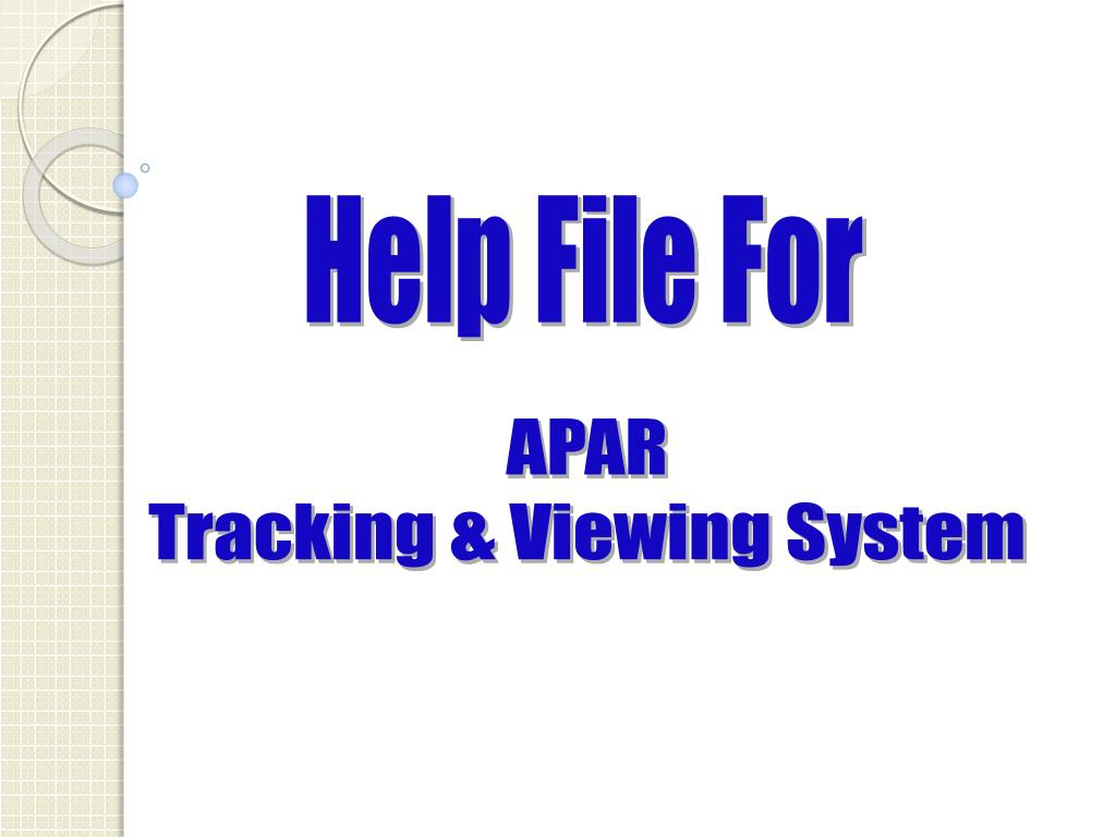 Help File For