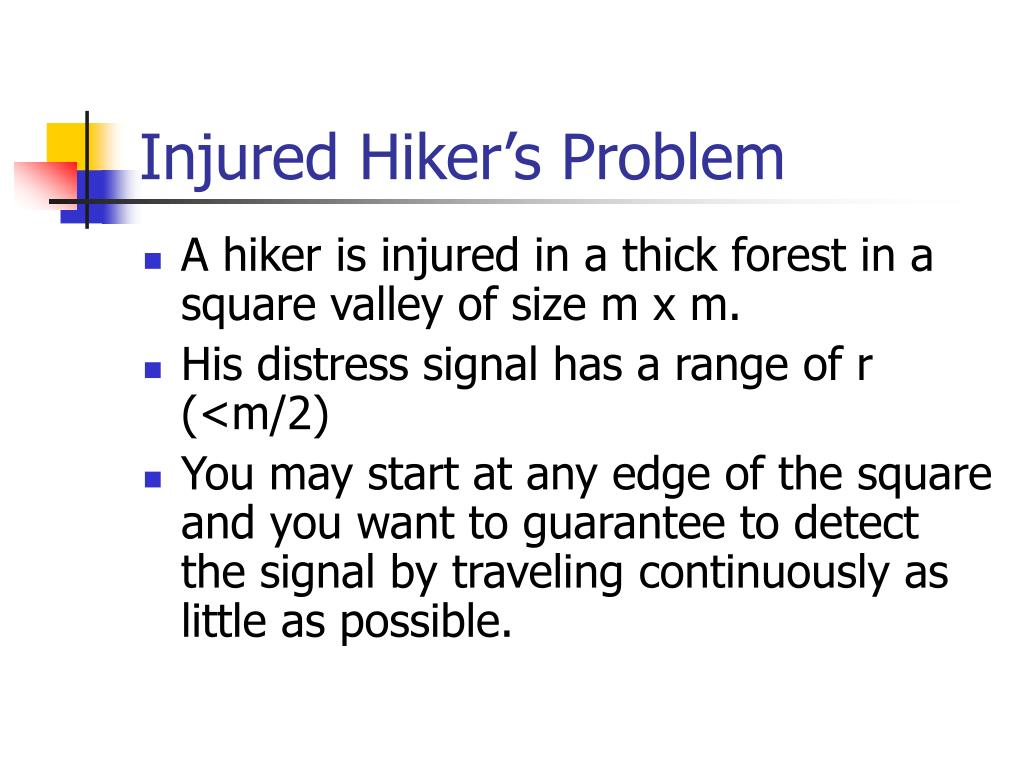 Injured Hiker's Problem