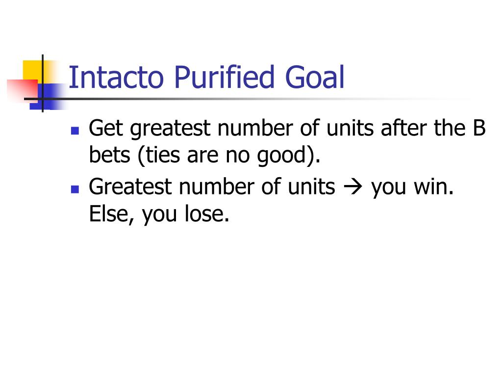 Intacto Purified Goal
