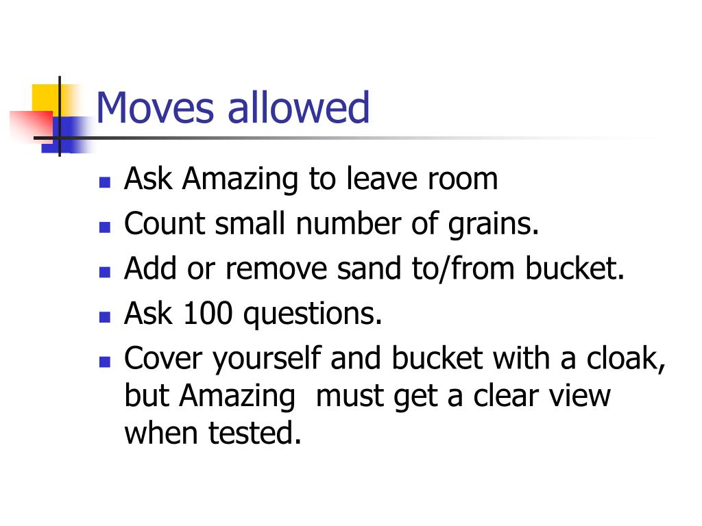 Moves allowed
