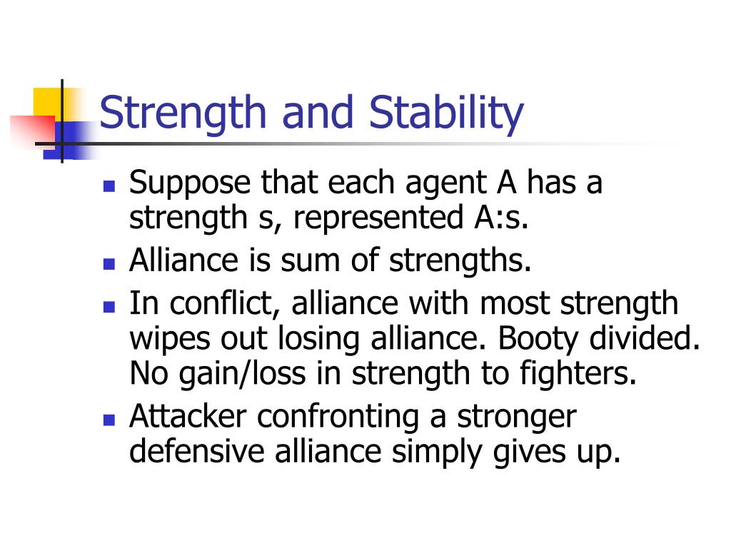 Strength and Stability