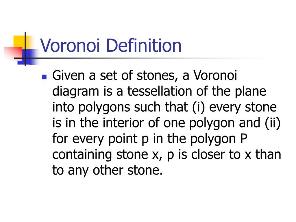 Voronoi Definition