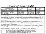 isolation levels ansi
