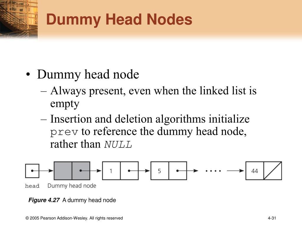 Dummy Head Nodes