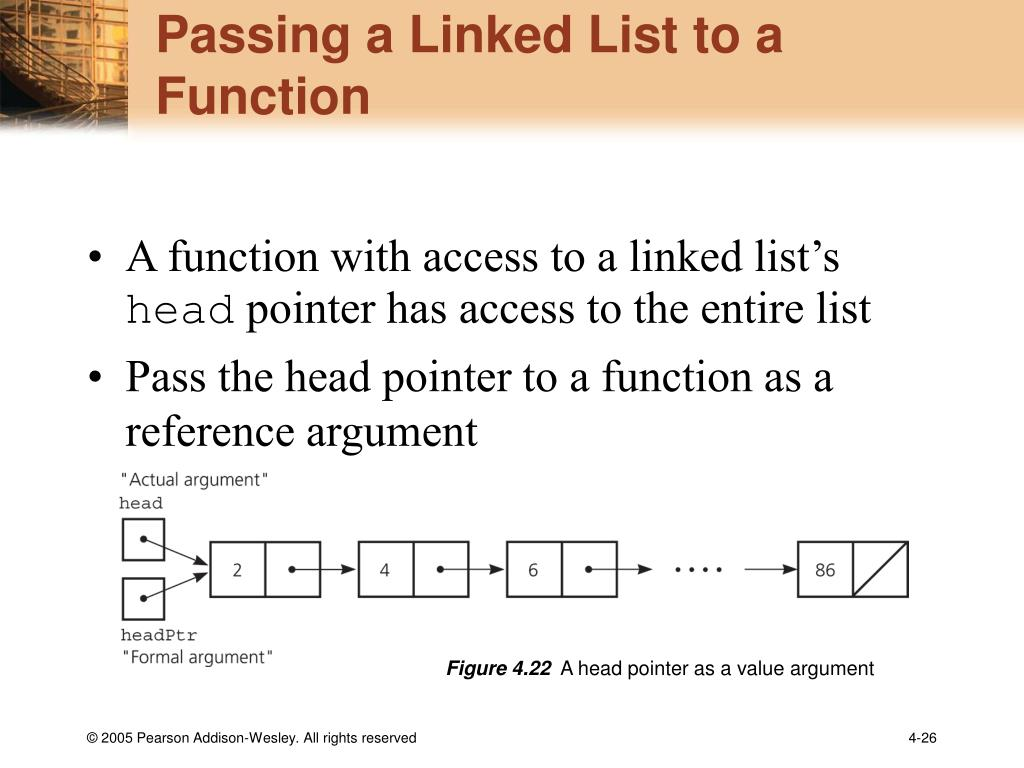 Passing a Linked List to a Function