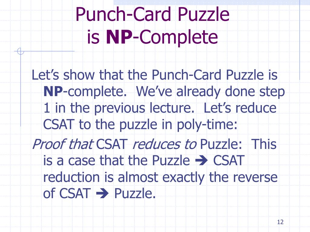Punch-Card Puzzle
