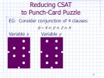 reducing csat to punch card puzzle17