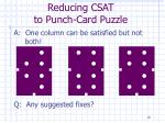 reducing csat to punch card puzzle19