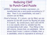 reducing csat to punch card puzzle21