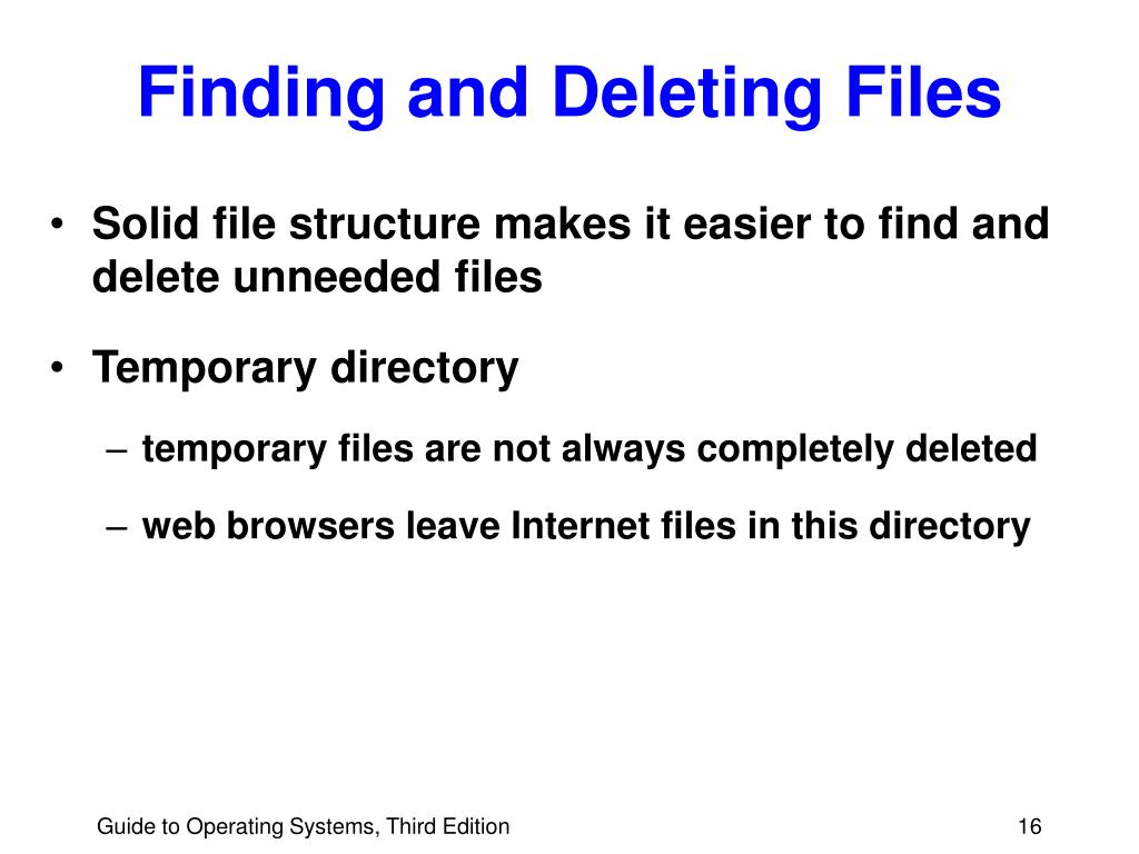 Finding and Deleting Files