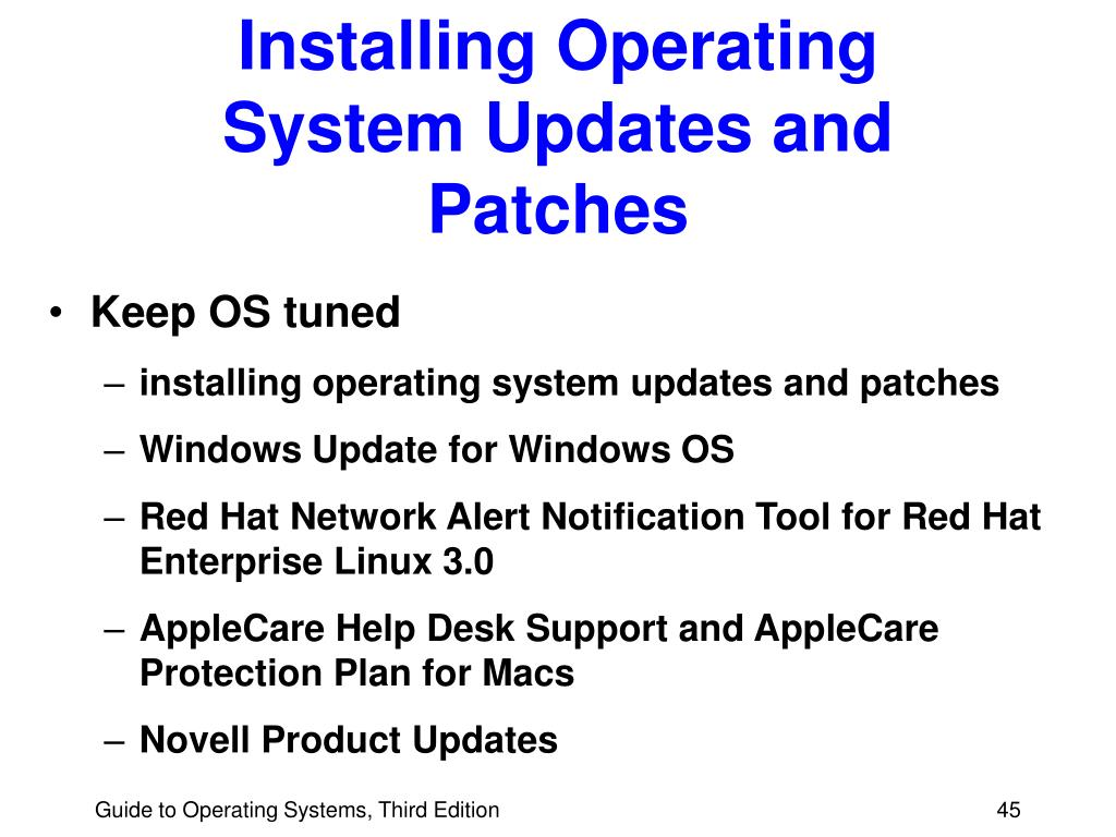 Installing Operating