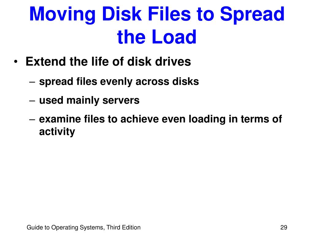 Moving Disk Files to Spread the Load