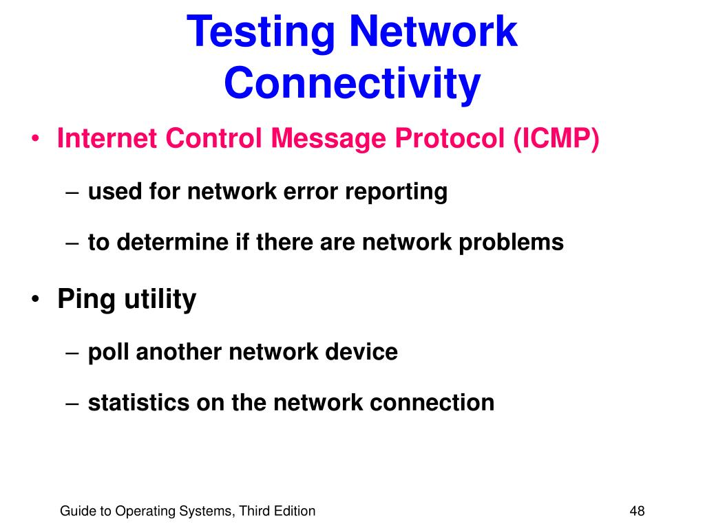 Testing Network Connectivity