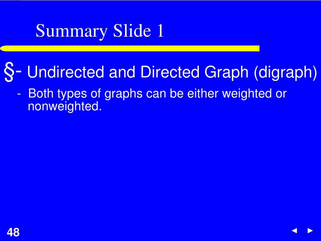 Summary Slide 1