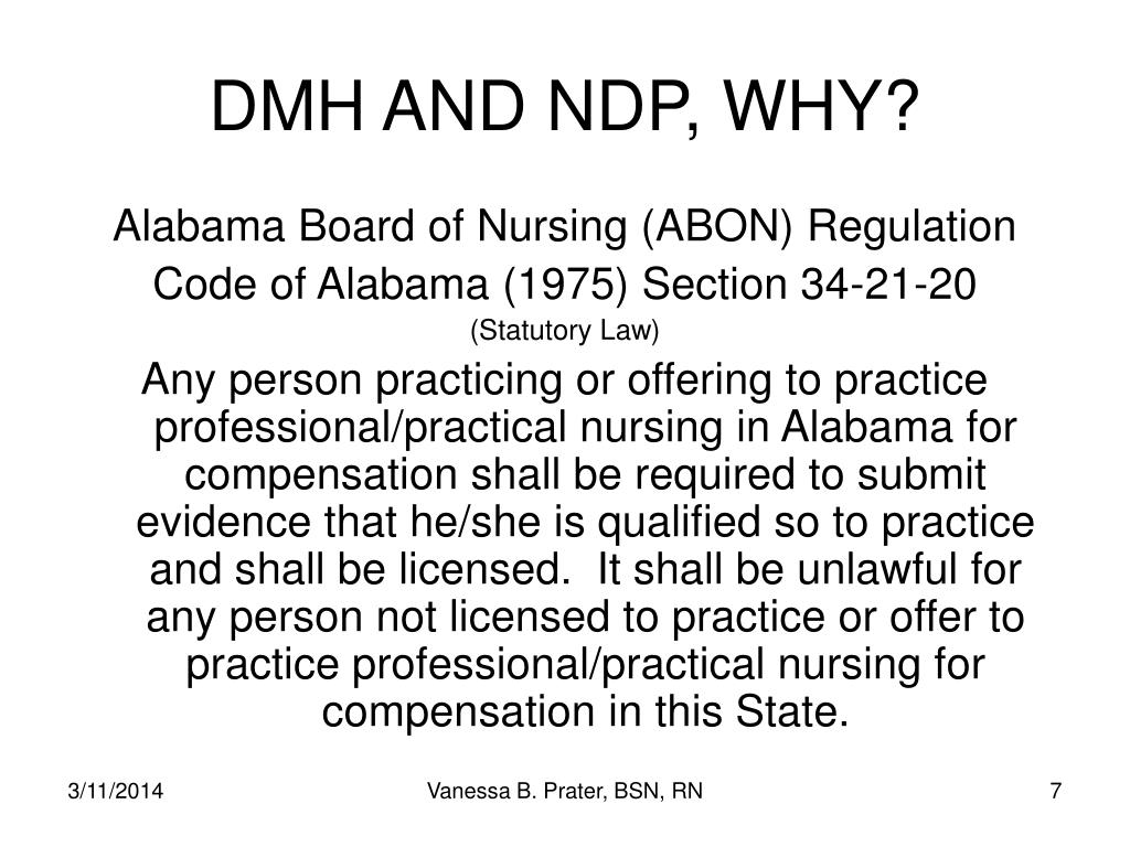 DMH AND NDP, WHY?