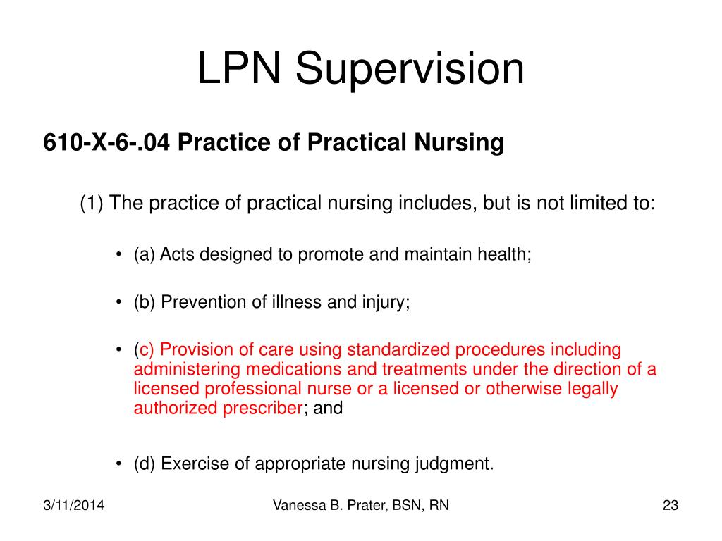 LPN Supervision