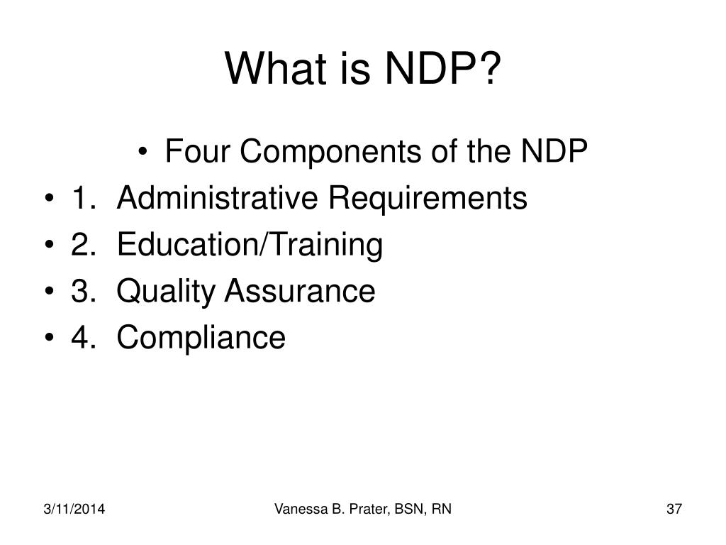 What is NDP?