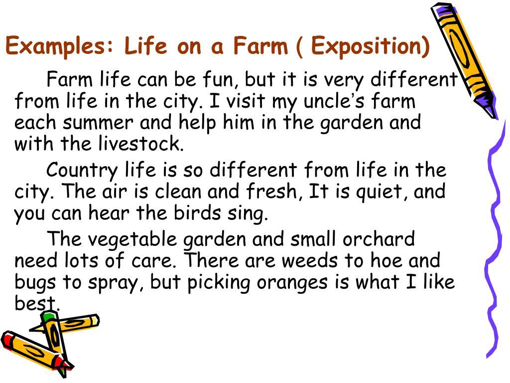 Examples: Life on a Farm