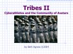 tribes ii cyberathletes and the community of avatars